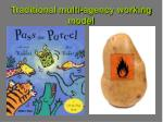 traditional multi agency working model