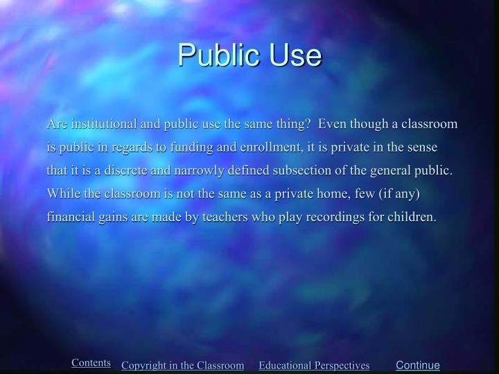 Public Use