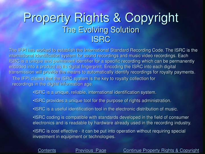 Property Rights & Copyright