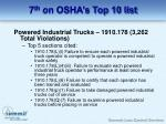 7 th on osha s top 10 list