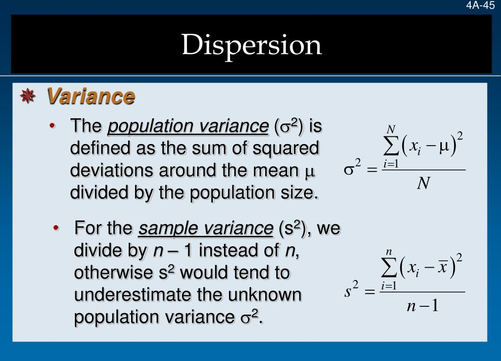 Dispersion