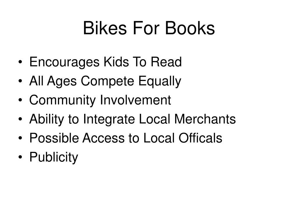 bikes for books l.