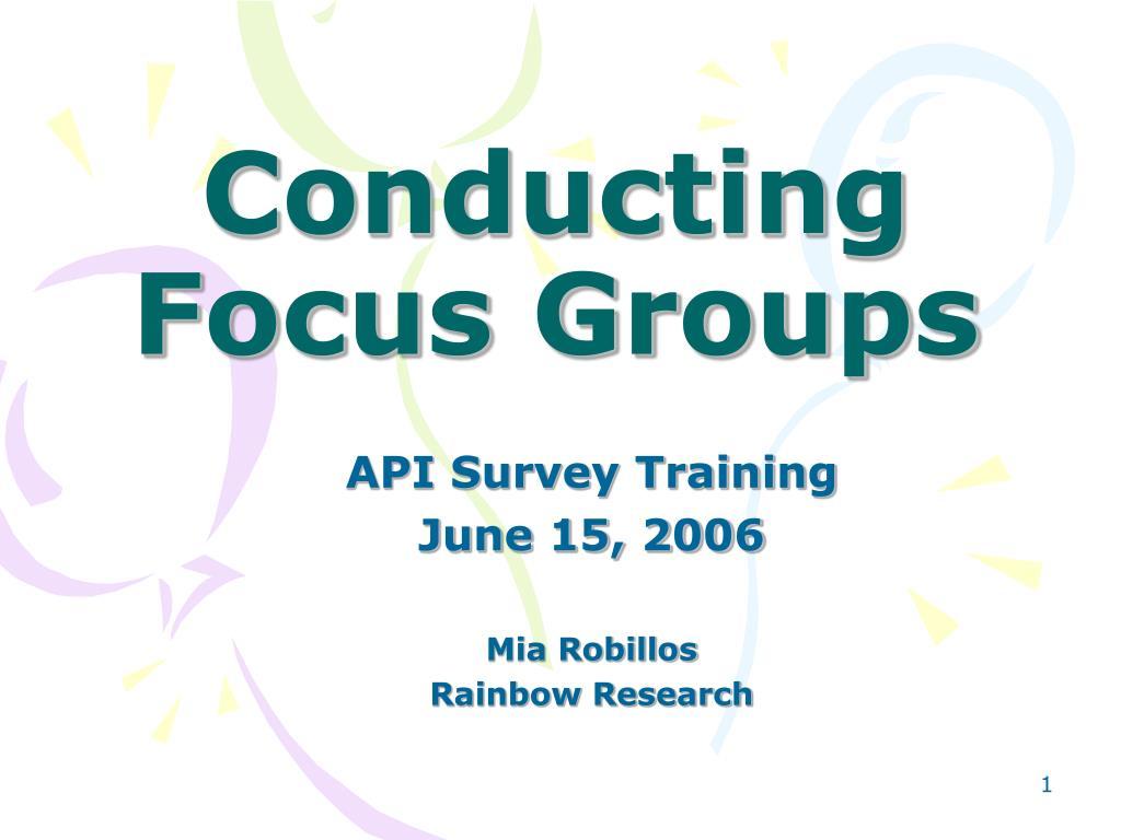 conducting focus groups l.
