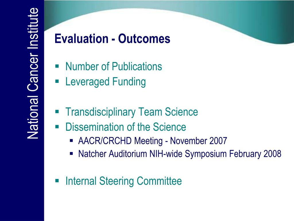 Evaluation - Outcomes