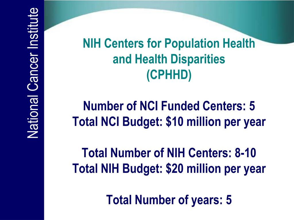 NIH Centers for Population Health