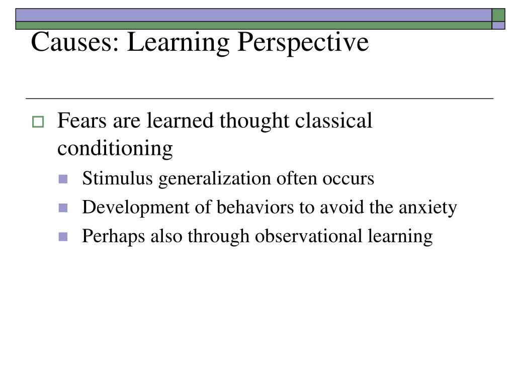 Causes: Learning Perspective