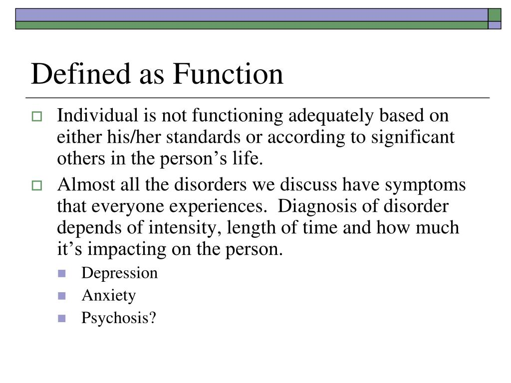 Defined as Function