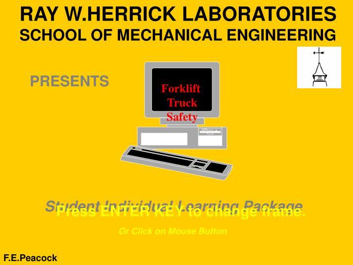 ray w herrick laboratories school of mechanical engineering n.