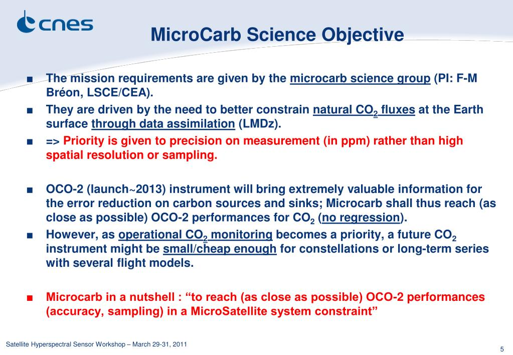 MicroCarb Science Objective