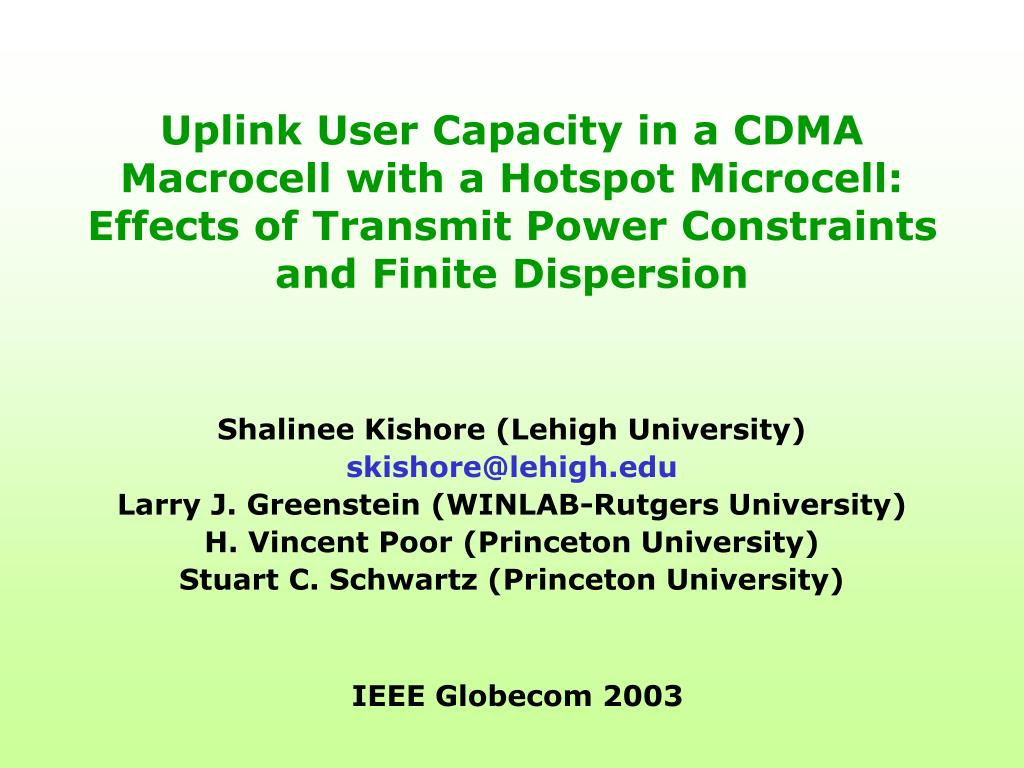 Uplink User Capacity in a CDMA Macrocell with a Hotspot Microcell:  Effects of Transmit Power Constraints and Finite Dispersion