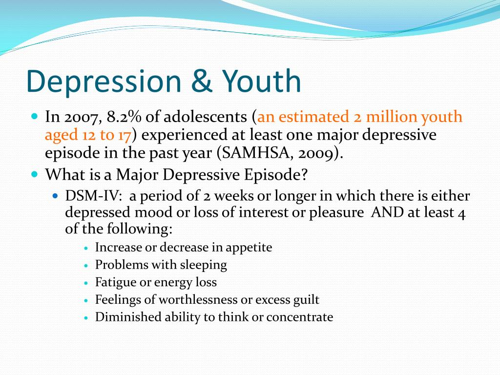 Depression & Youth