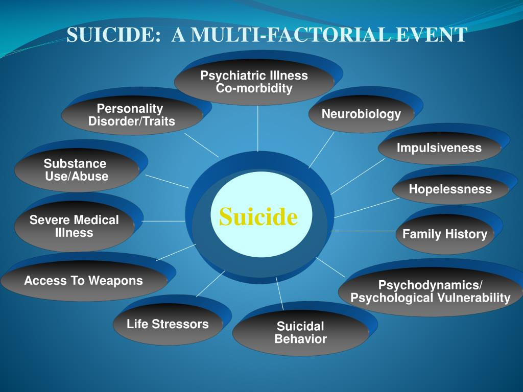 SUICIDE:  A MULTI-FACTORIAL EVENT