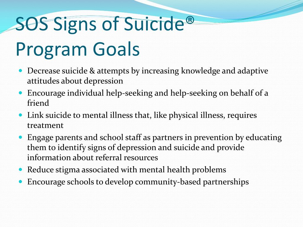 SOS Signs of Suicide®