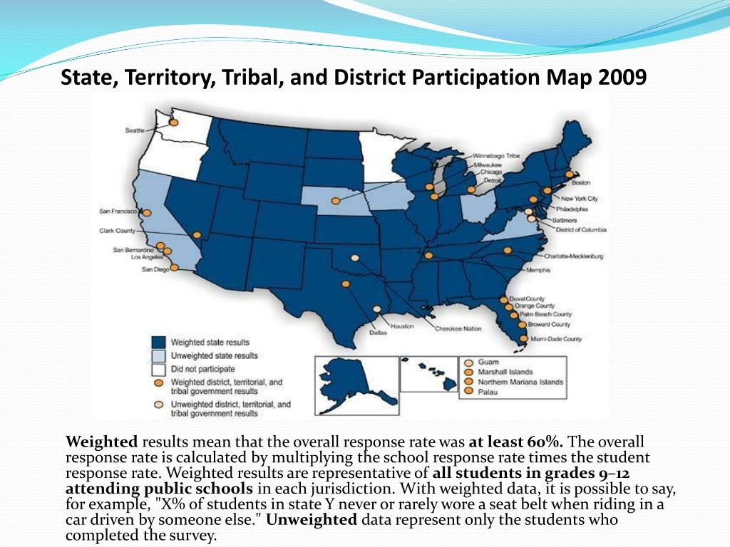 State, Territory, Tribal, and District Participation Map 2009