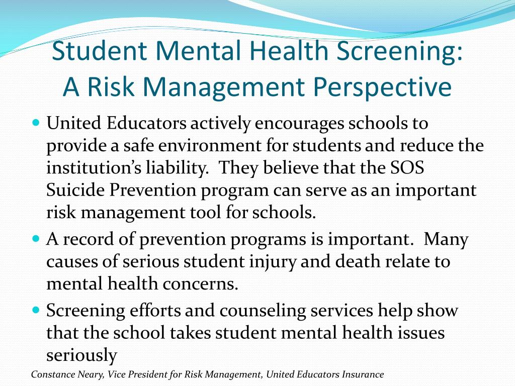Student Mental Health Screening: