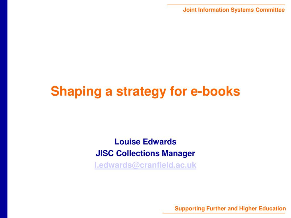 shaping a strategy for e books l.