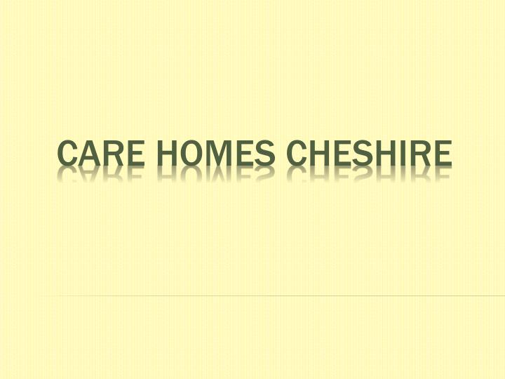 care homes cheshire n.