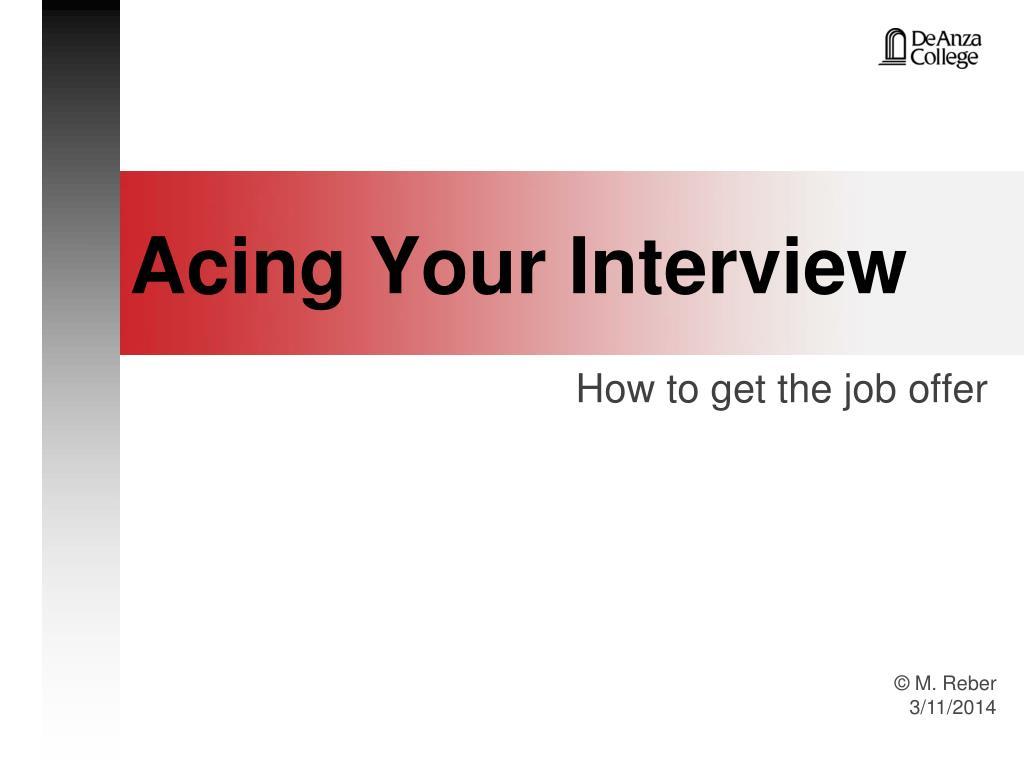 acing your interview