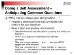 doing a self assessment anticipating common questions18