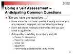 doing a self assessment anticipating common questions23