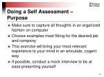 doing a self assessment purpose11