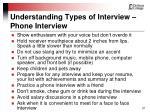 understanding types of interview phone interview