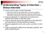 understanding types of interview stress interview