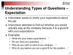 understanding types of questions expectation