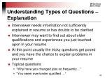 understanding types of questions explanation