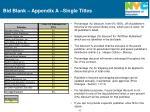 bid blank appendix a single titles