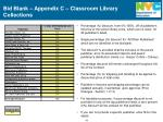 bid blank appendix c classroom library collections