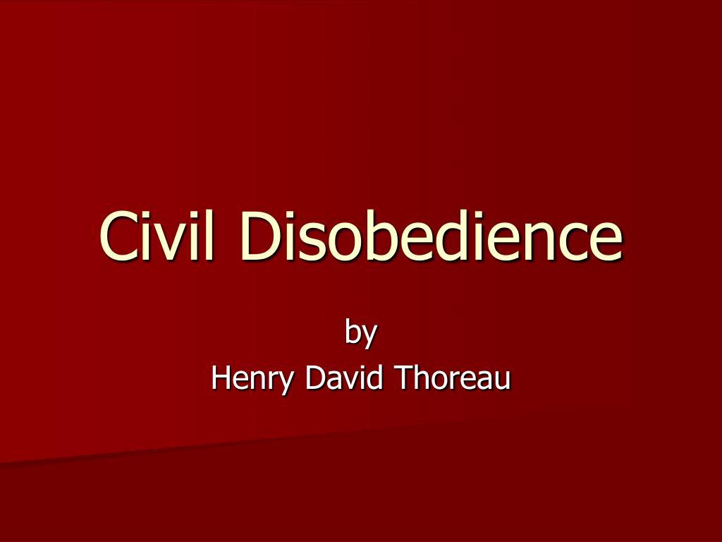 civil disobedience l.