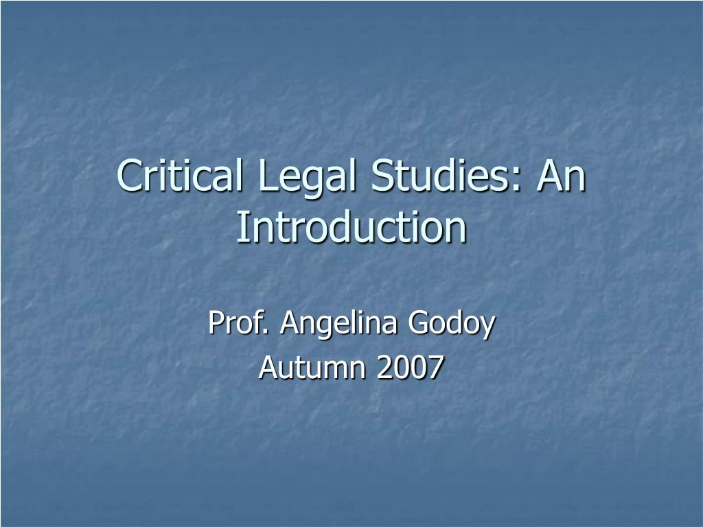 critical legal studies an introduction