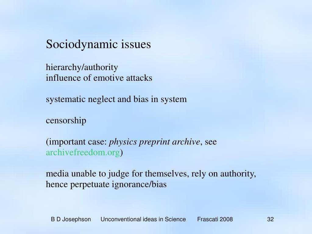 Sociodynamic issues