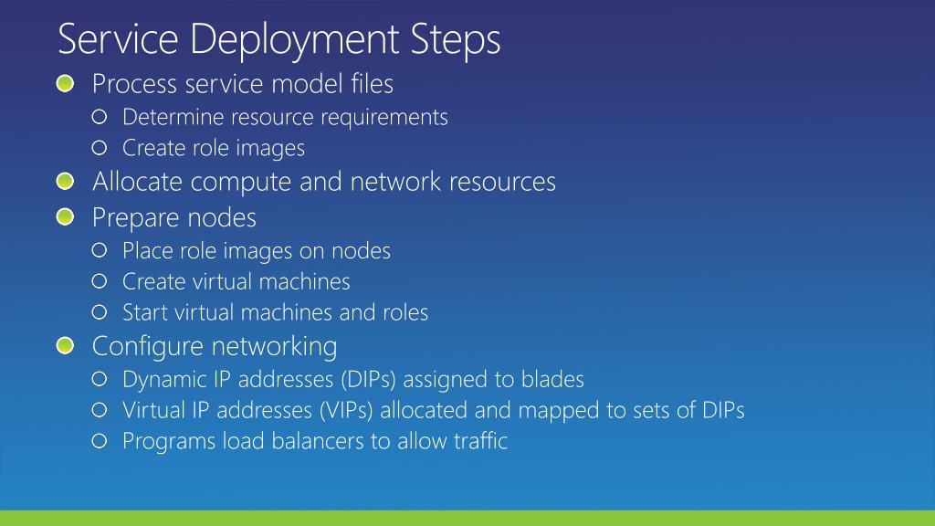 Service Deployment Steps