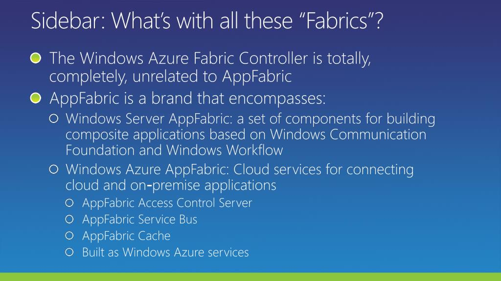 """Sidebar: What's with all these """"Fabrics""""?"""