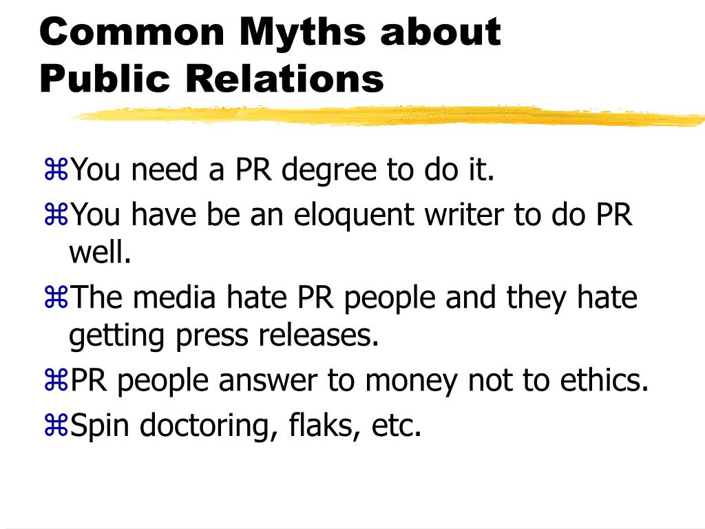 Common Myths about Public Relations