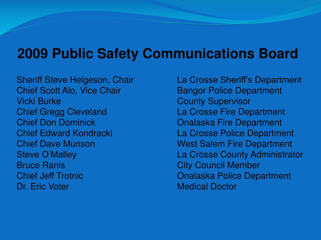 2009 Public Safety Communications Board