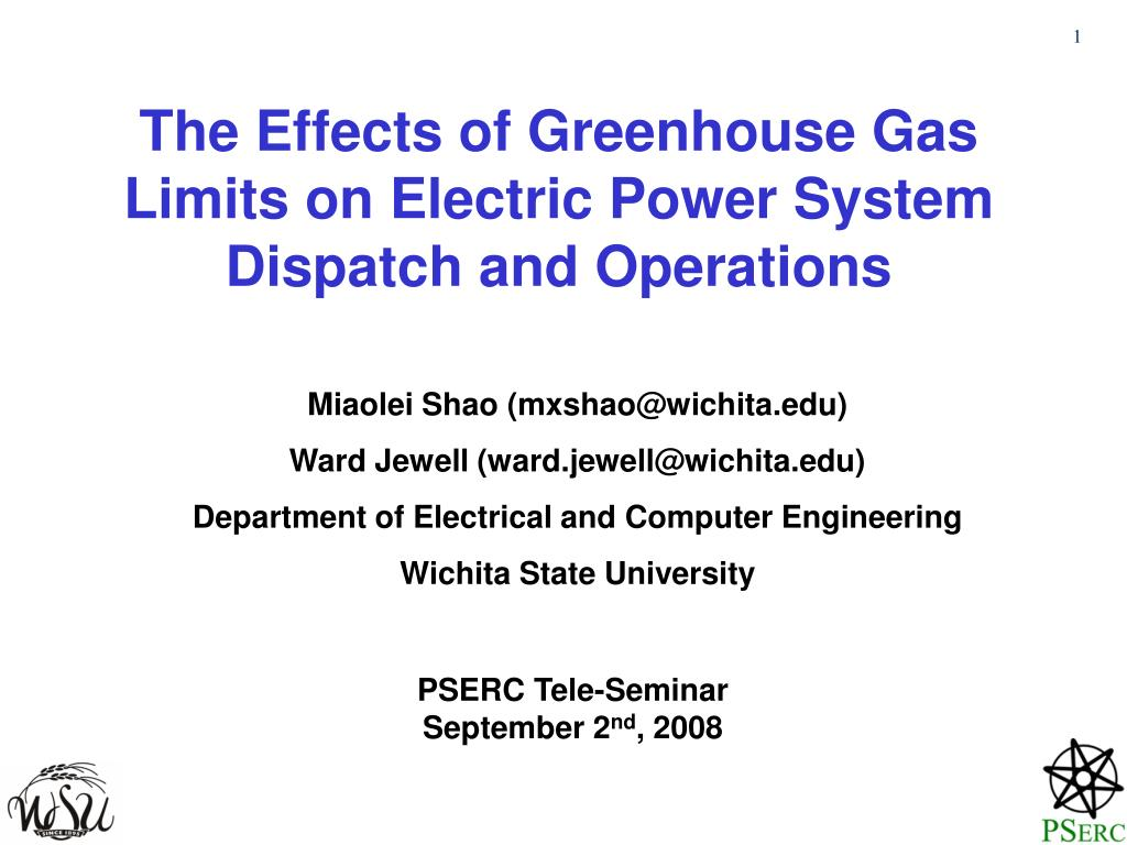 the effects of greenhouse gas limits on electric power system dispatch and operations l.