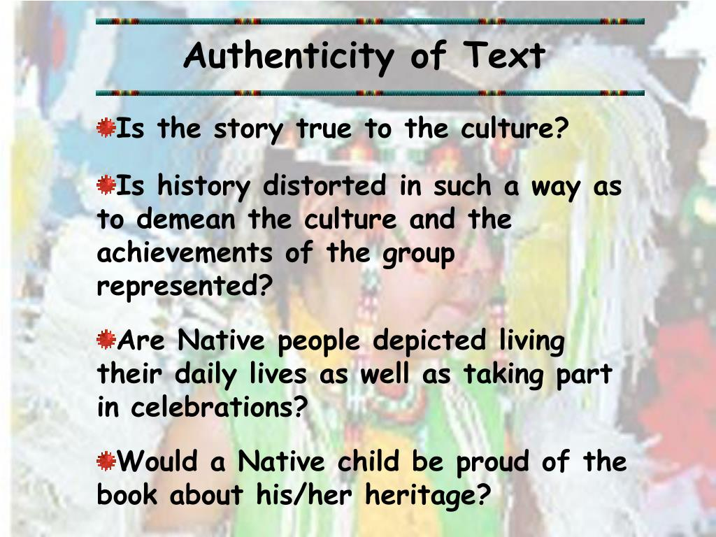Authenticity of Text