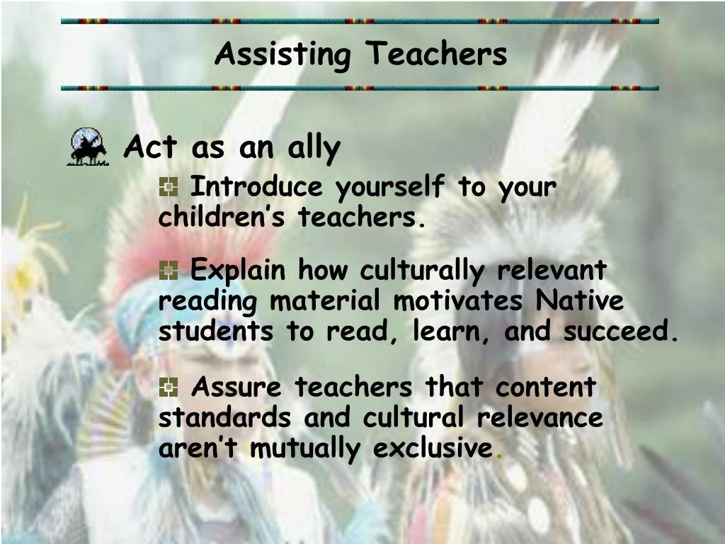 Assisting Teachers