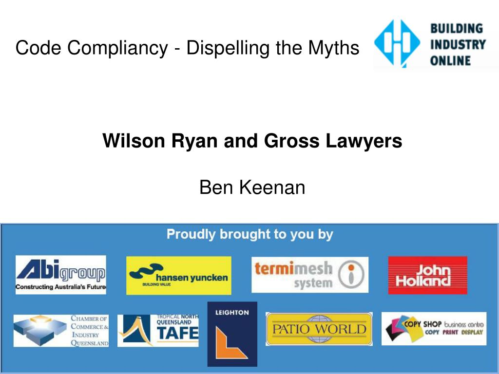 Code Compliancy - Dispelling the Myths