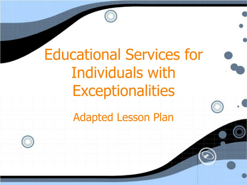 educational services for individuals with exceptionalities l.