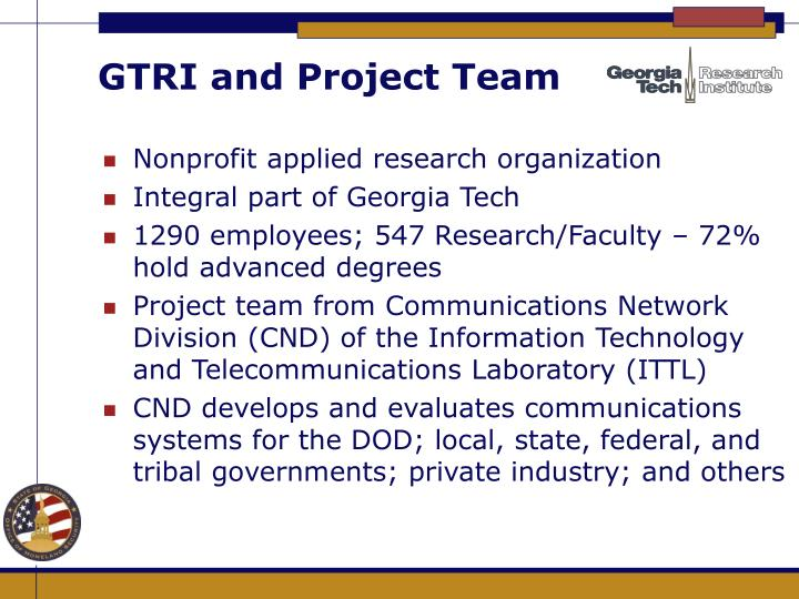 Gtri and project team