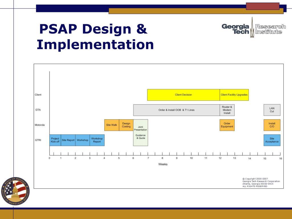 PSAP Design &