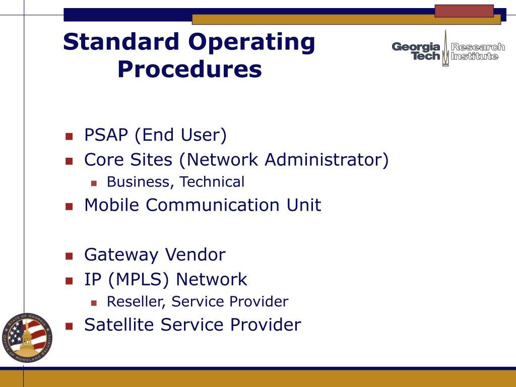 Standard Operating