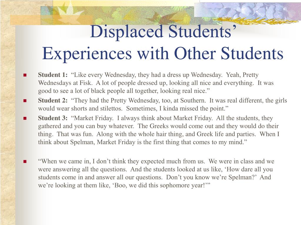 Displaced Students'