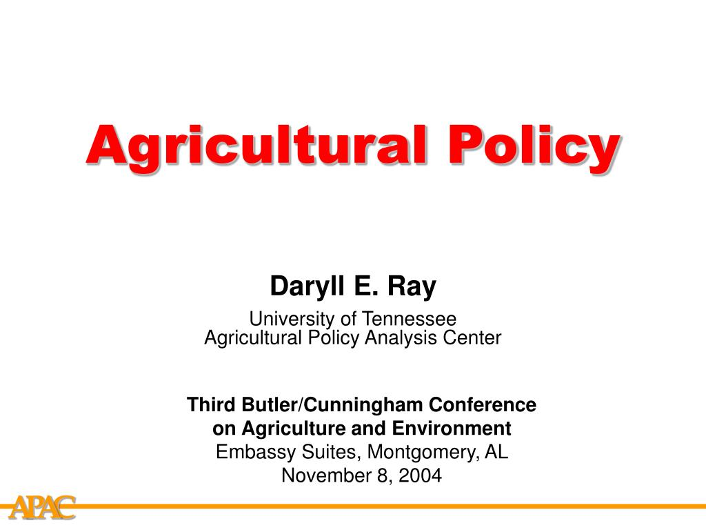 agricultural policy l.