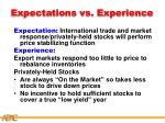 expectations vs experience42