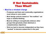 if not sustainable then what